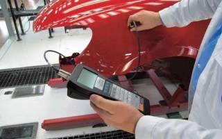 Проверка лакокрасочного покрытия толщиномером