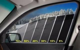 Разрешено ли тонировать передние боковые стекла?