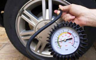 Давление в шинах зимой и летом таблица
