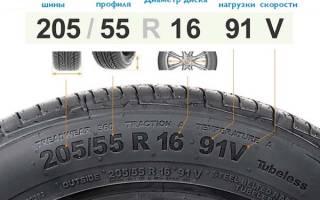 Как правильно читать размеры шин